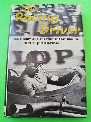1964 THE RACING DRIVER Jenkinson H-C & DJ 208p RARE PHOTOS Ascari FANGIO Moss