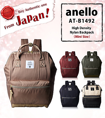 ec36582d73 100% AUTHENTIC anello AT-B1492 High Density Nylon Backpack(MINI Size)From