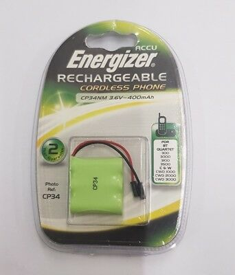 CP34NM  3.6V 400mAh NiMH Rechargable Cordless Phone Battery - Energizer