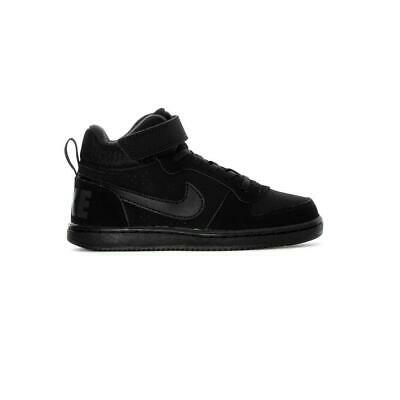 NIKE COURT BOROUGH Mid Psv Bambini Nero 870026-001 - EUR 24 8fb6c5a940f