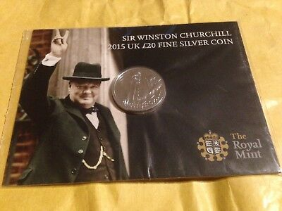 Sir Winston Churchill 2015 UK 11 (Eleven) x £20  Fine Silver Coins - Sealed/New