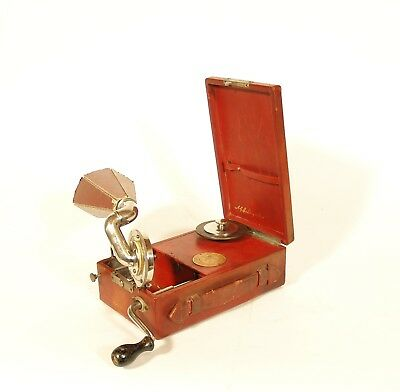 1925 RED Mignonphone Portable Phonograph * Rare & Exceptionally Nice * Plays 78s