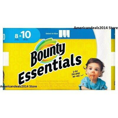 8 = 12 Bounty Essentials Paper Towels, FULL SHEETS, Giant Rolls - Fast Shipping