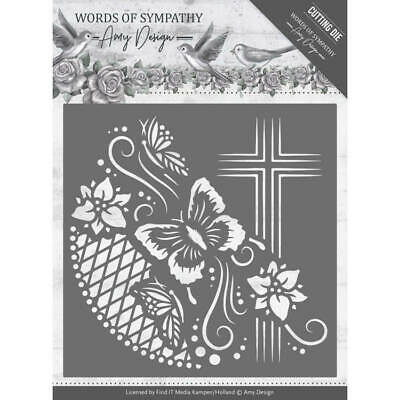 Stanzschablone - Amy Design -Words of Sympathy - Kreuz Rahmen