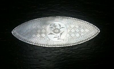 Antique Chinese Canton export mother of pearl gaming counter