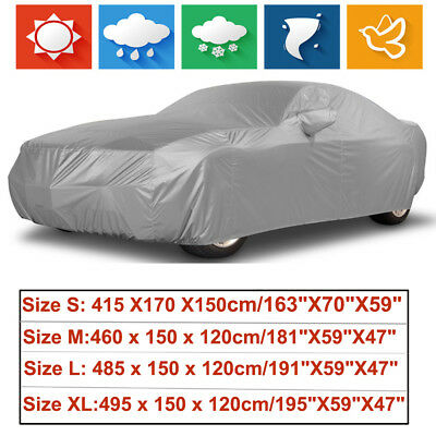 Universal Full Car Cover Storage Waterproof Sun UV Rain Dust Resistant Protector