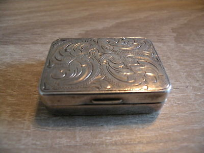 Pillendose 925 sterling Silber  40 x 30 x 12 mm / 19,47 gramm
