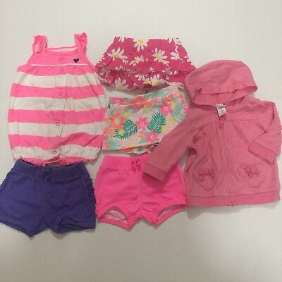 442711bdc LOT OF 6 Baby Girl Summer Shorts and Skirts Size 6 Month -  7.64 ...