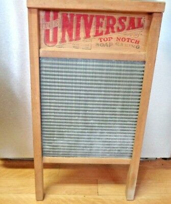 Vintage Washboard Universal National 134 Soap Saving Large  Washboard