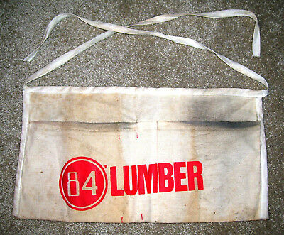 vintage 84 LUMBER company carpenter's waist pouch pocket belt apron, used, cloth