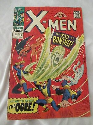 X-Men # 28, The Wail of The Banshee, Silver Age 1966
