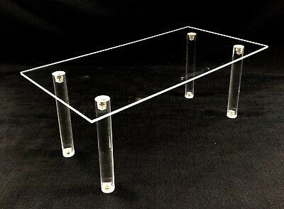 Clear Acrylic WIDE Riser Set Display Jewelry Showcase Fixture Counter Display SM