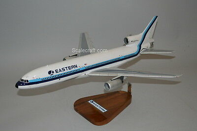 L-1011 Eastern Airlines Lockheed mahogany wood airplane scale model 1/100 scale