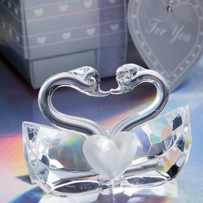 Choice Clear Crystal Collection Kissing Swans - Gift Boxed