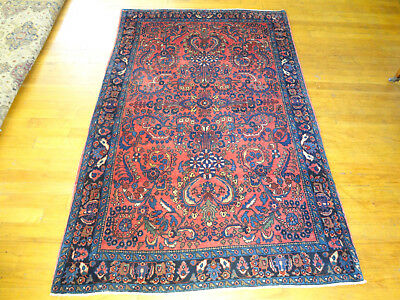 """Authentic Antique Persian Sarouk Oriental Rug Wool Hand Knotted 5' X 3' 3"""""""