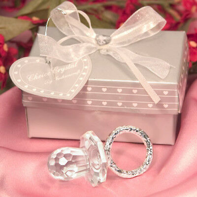 Choice Clear Crystal Pacifier / Dummy Ornament - Gift Boxed