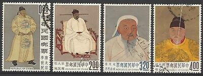 CHINA ROC TAIWAN 1962 Ancient Chinese Paintings set of 4 used SG#451-454