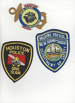 3 Different  Police Special Unit Patches