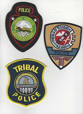 3 Different  Tribal Police Patches