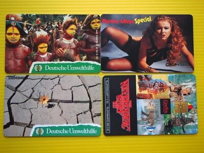 4 germany mint phonecards.