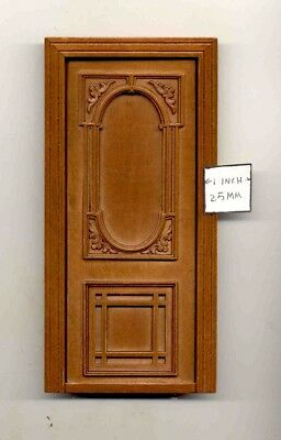 wooden dollhouse miniature 1:12 scale Door by Bespaq 846NWN Windsor exterior