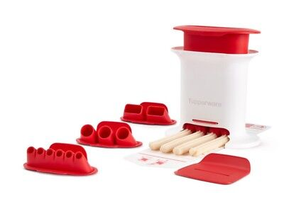 Tupperware Red Snack Press Brand New With All Attatchments Churro Maker