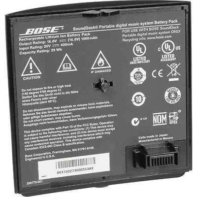 Genuine Bose SoundDock Portable Lithium-Ion Rechargeable Battery (Black)