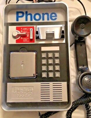 Novelty Retro Payphone Wall Telephone With Talking Street Sounds by Street Goods