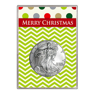 2000 $1 American Silver Eagle Gift Holder – Merry Christmas Design