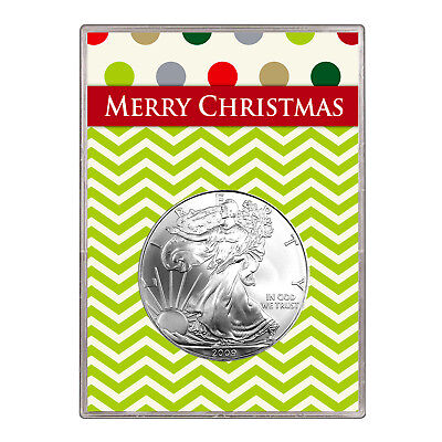 2009 $1 American Silver Eagle Gift Holder – Merry Christmas Design