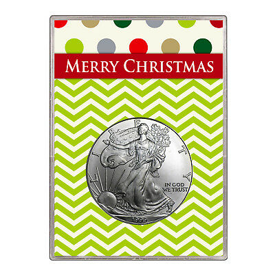 1999 $1 American Silver Eagle Gift Holder – Merry Christmas Design