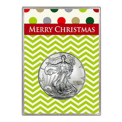 1996 $1 American Silver Eagle Gift Holder – Merry Christmas Design