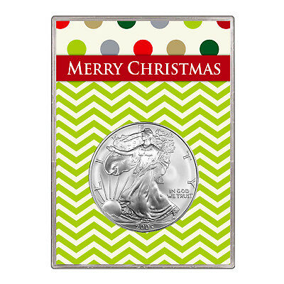 2005 $1 American Silver Eagle Gift Holder – Merry Christmas Design
