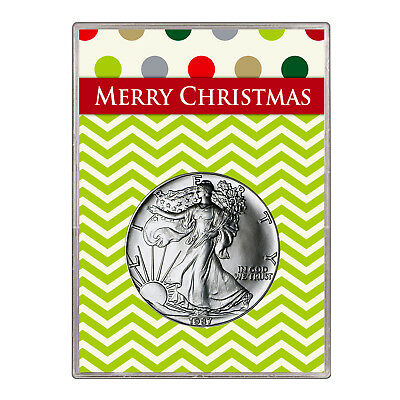 1987 $1 American Silver Eagle Gift Holder – Merry Christmas Design