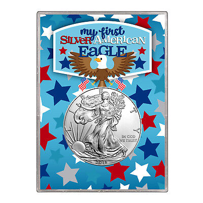 2015 $1 American Silver Eagle Gift Holder –  First Silver Eagle Design