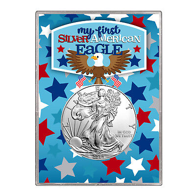 2014 $1 American Silver Eagle Gift Holder –  First Silver Eagle Design