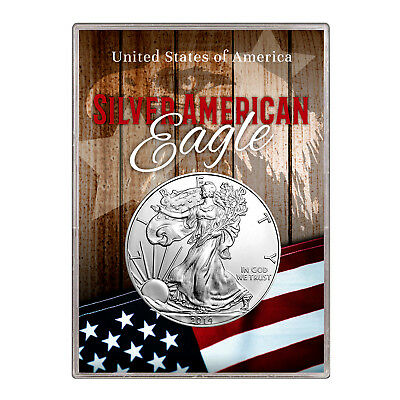2014 $1 American Silver Eagle Gift Holder –  Flag and Eagle Design