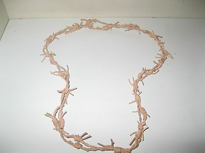 "Natural colored leather barbed wire necklace....174.... 18"" long......bracelet,."