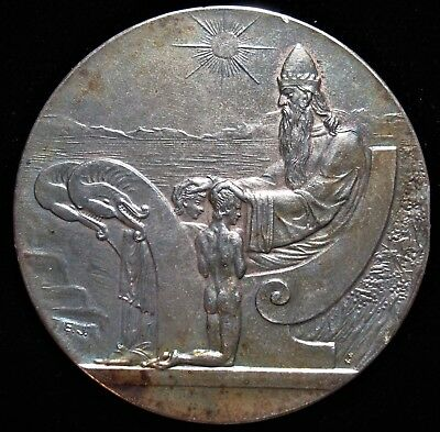 Iceland Medallic 1000 Years Althing Silver 10 Kronur 1930 AU+ in Original Box.