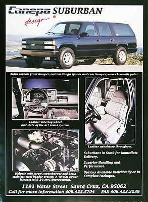 1994 CANEPA SUBURBAN Design Genuine Vintage Ad ~ WHIPPLE SUPERCHARGED