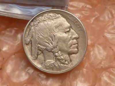 1913 Type 1 Buffalo Nickel On Raised Ground About Uncirculated #2