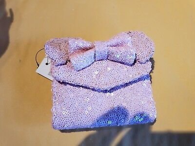 Disney Parks Loungefly Millennial Pink Sequin Minnie Mouse Wallet New release