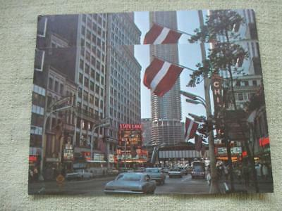 1960 Vintage Post Card Latvian Flags Flying in Honor of Latvian Independence Day