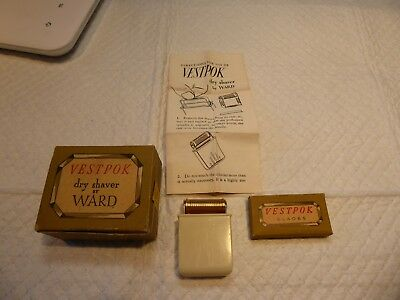 Vestpok Dry Shaver by Ward Machine Co., Inc. in  box with blades