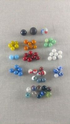 Vintage Antique Marbles Estate Lot of 62 Akro Agate Ribbon Core Jade Green MORE!