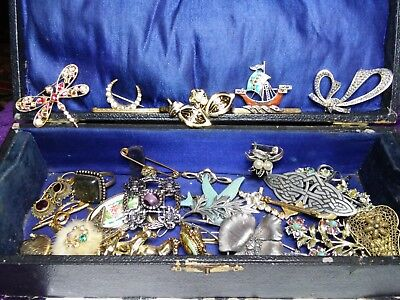 Job Lot Of Mixed Vintage Style Costume Jewellery Draw Find-Incl-Vintage Box £1