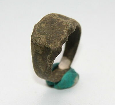 Ancient Old Medieval Bronze Ring (JNE20)