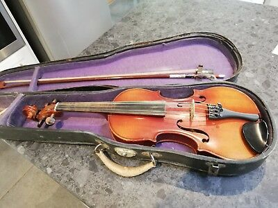 Antique Violin 3/4 size Strad copy, probably 100 years old, sweet sound.