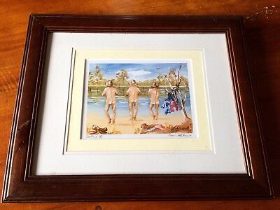 Signed Print Of Original Painting by Pam Hopkins. Eumundie Markets.