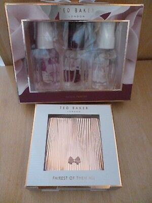 *Ted Baker Little Luxuries Gift Set Floral Fancies & Ted Baker Compact Mirror*